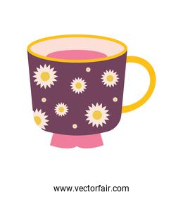 cup of tea with a purple color and sunflowers