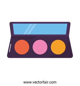 eye shadow palette on a white background