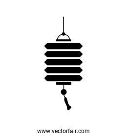 chinese lamp hanging silhouette style icon