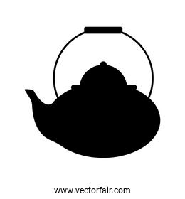 chinese teapot silhouette style icon