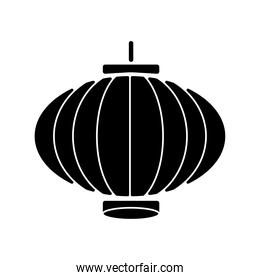 chinese lamp silhouette style icon
