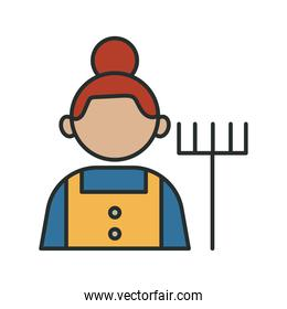 gardener profession worker avatar fill style icon