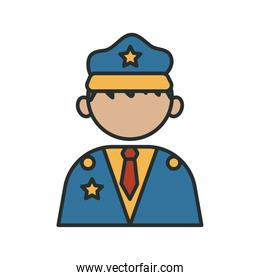 police officer profession worker avatar fill style icon