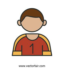 profession football player worker avatar fill style icon