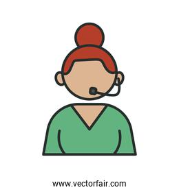 profession receptionist worker avatar fill style icon