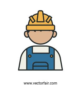 profession builder worker avatar fill style icon