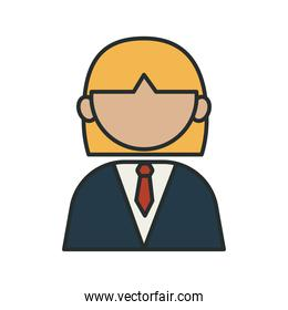 profession attorney worker avatar fill style icon
