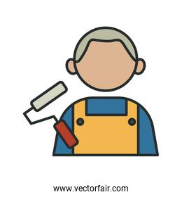 profession painter worker avatar fill style icon