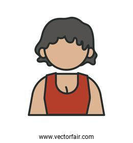 profession business girl worker avatar fill style icon