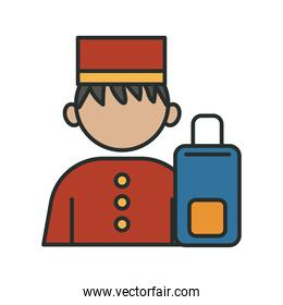 profession bellboy worker avatar fill style icon
