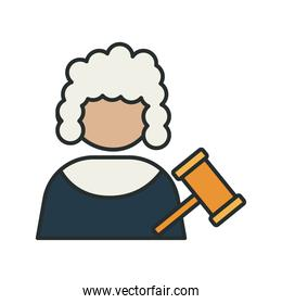 profession judge worker avatar fill style icon