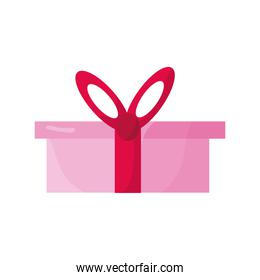 gift box present color pink icon