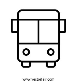 bus conveyance transport vehicle line style icon