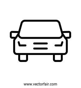 car front conveyance transport vehicle line style icon