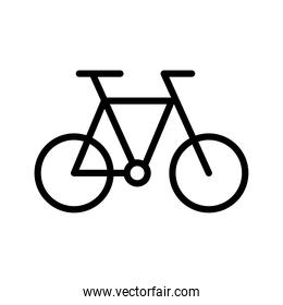 bicycle conveyance transport vehicle line style icon
