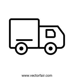 truck conveyance transport vehicle line style icon