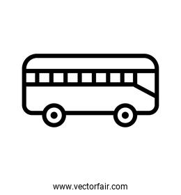 bus transport vehicle line style icon