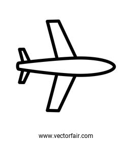 airplane conveyance transport vehicle line style icon
