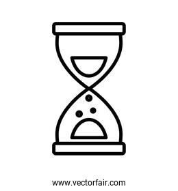 time hourglass sand line style icon