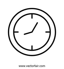 time clock watch wall line style icon