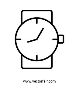 time clock wrist watch line style icon