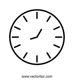circular time clock watch line style icon