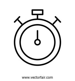 chronometer timer counter linear style icon