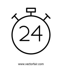 chronometer timer counter with 24 number line style icon