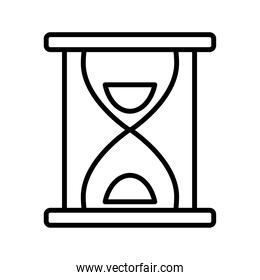time hourglass sand line style