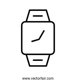 time clock square wrist watch line style icon