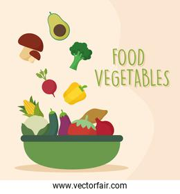 fresh vegetables in green tray