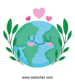 save the world with ecological and environment cartoon