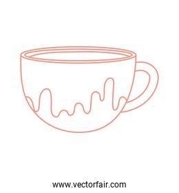 tea and coffee cup icon line style