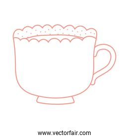 tea and coffee ceramic cup icon line style