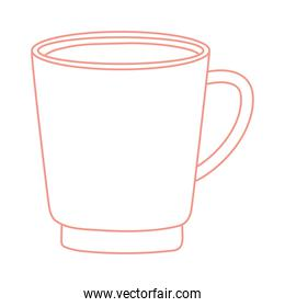 tea and coffee fresh cup icon line style