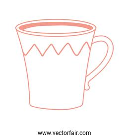cup with tea or coffee icon line style