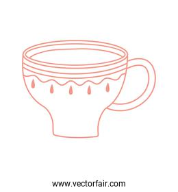 tea and coffee cup fresh beverage icon line style