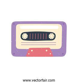 vintage cassette music record icon in cartoon style