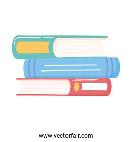 stack of books reading and studying education