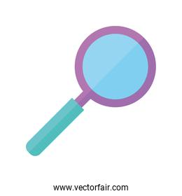 chemistry magnifier research science flat style