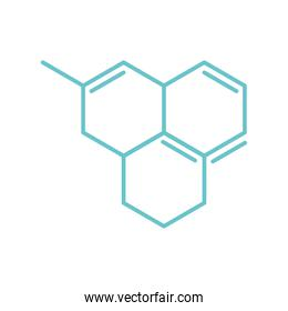 chemistry structure molecule science flat style