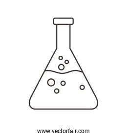 chemistry research flask science line style