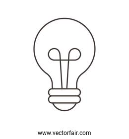 light bulb energy power cartoon, line style
