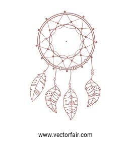 dreamcatcher feather native boho and tribal hand drawn style