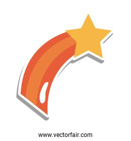 Shooting star sticker vector design