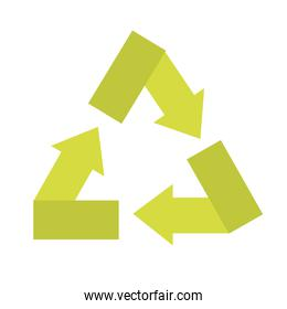 recycle sign isolated icon