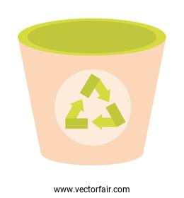 Recycle trash isolated vector design