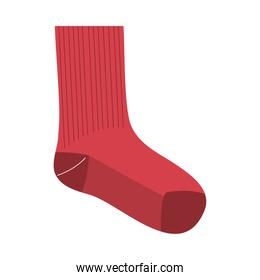 red and long sock icon vector design