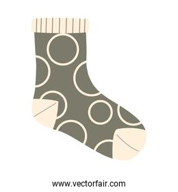 sock with circles vector design