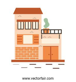 Store with plant vector design